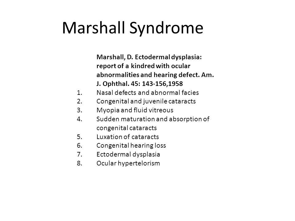 Marshall Syndrome