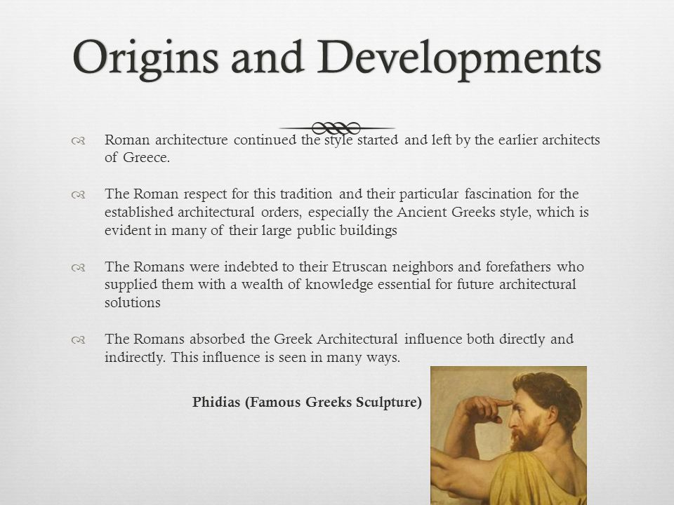 Origins and Developments