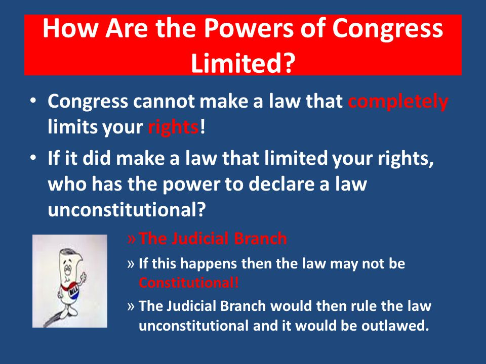 How Are the Powers of Congress Limited
