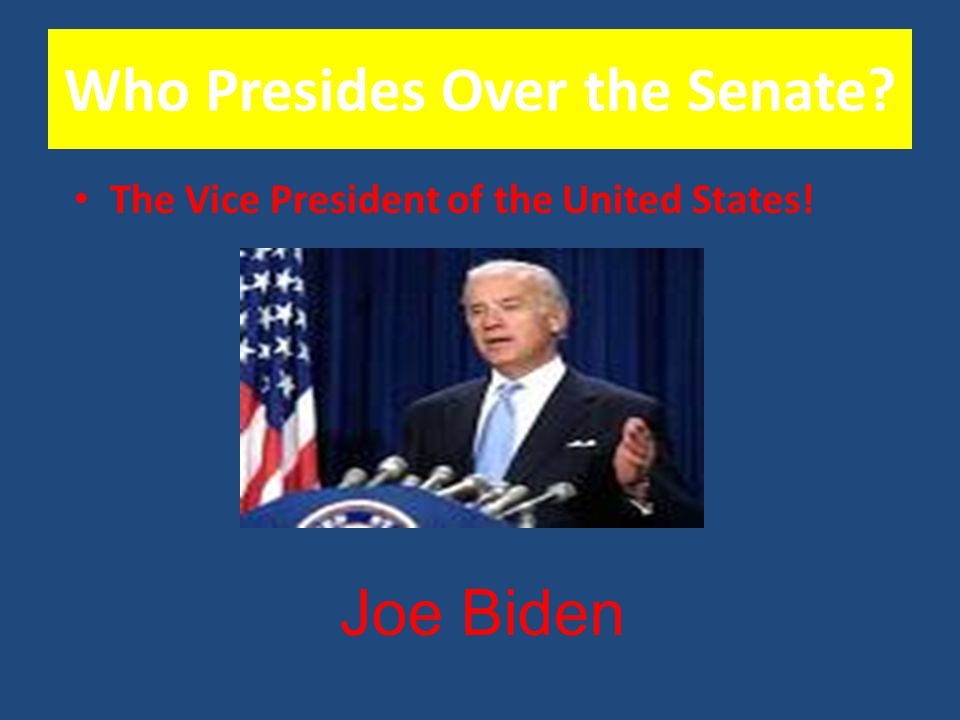 Who Presides Over the Senate