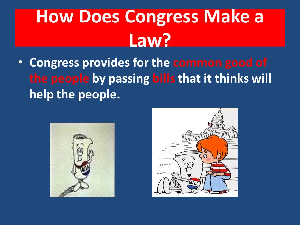How Does Congress Make a Law