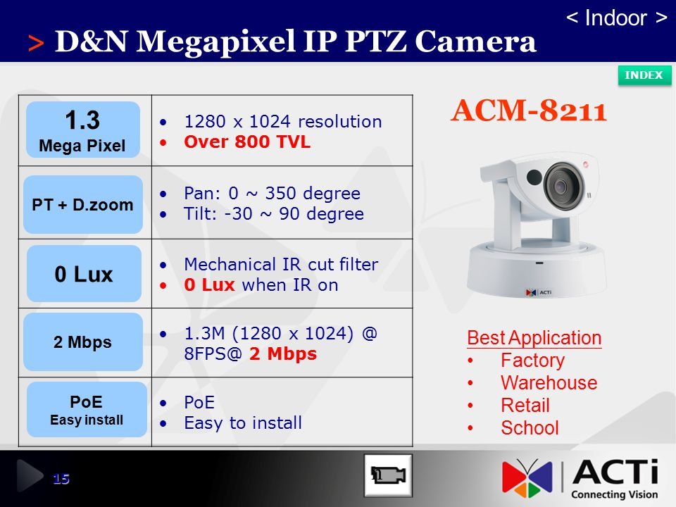 > D&N Megapixel IP PTZ Camera