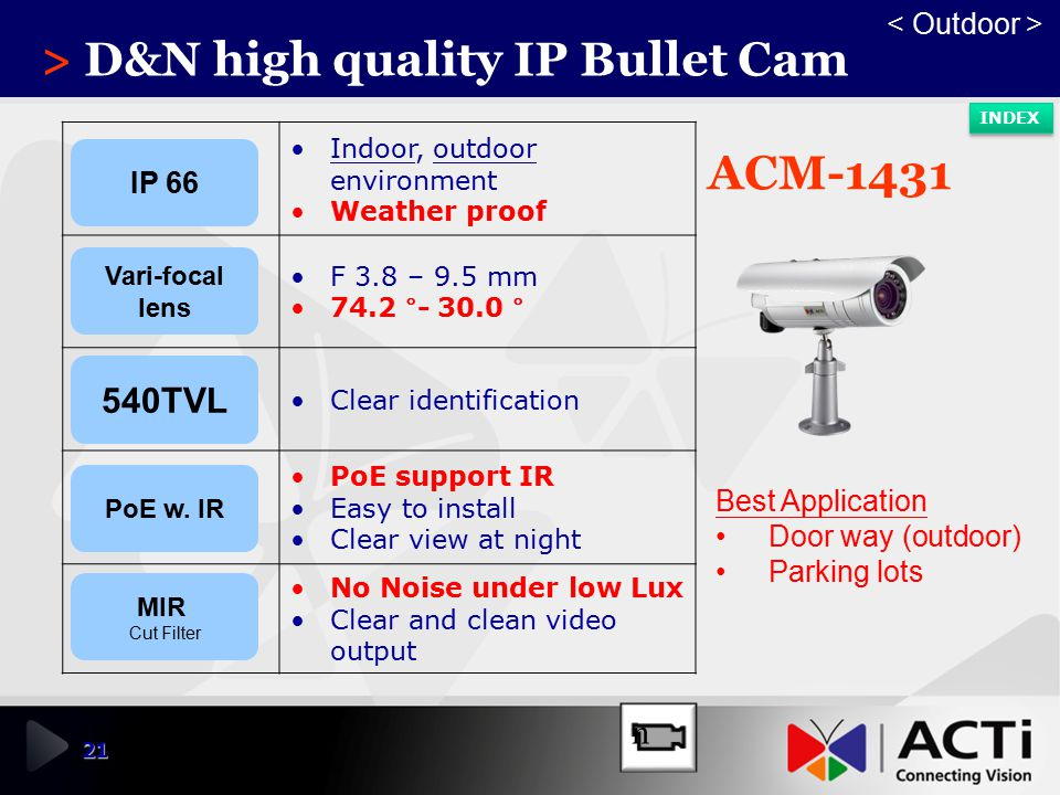 > D&N high quality IP Bullet Cam