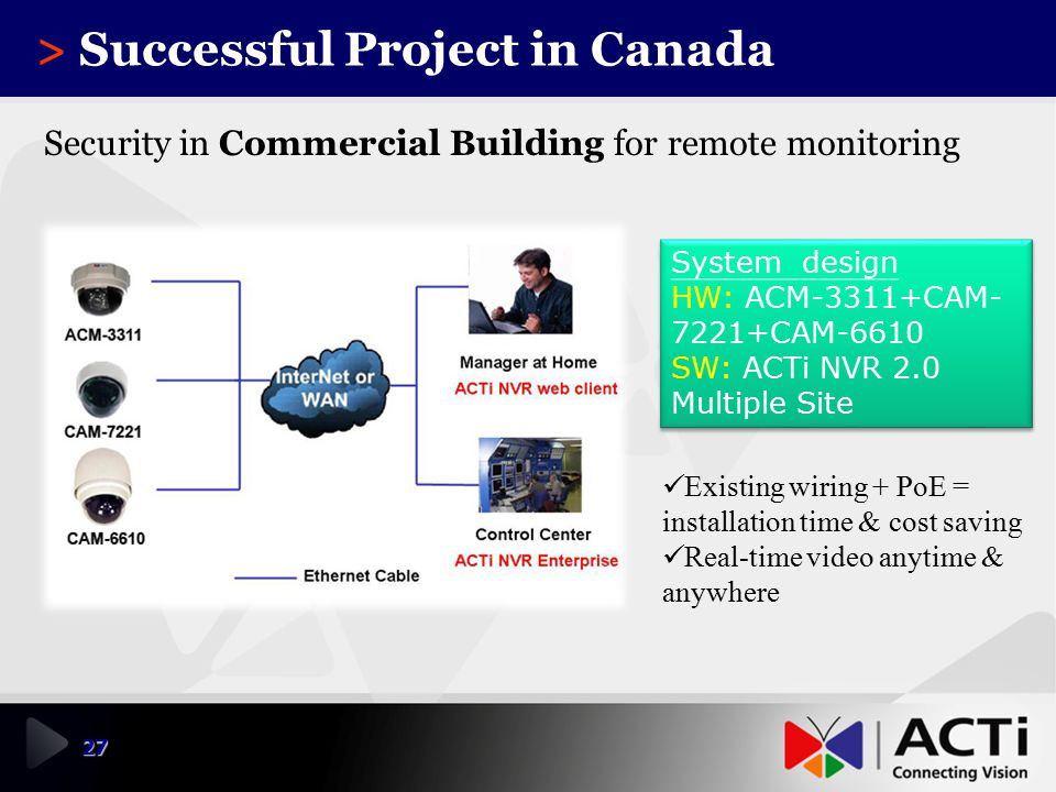 > Successful Project in Canada