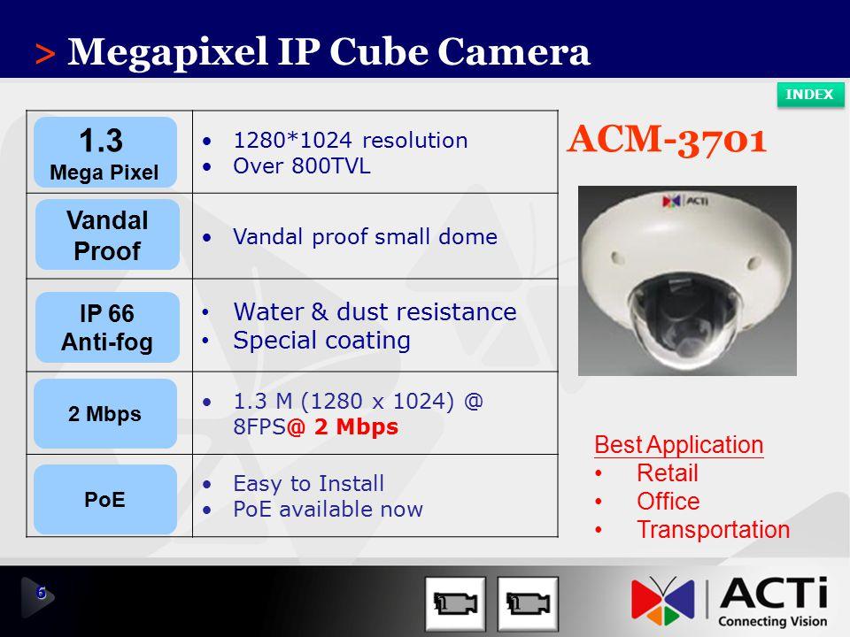 > Megapixel IP Cube Camera
