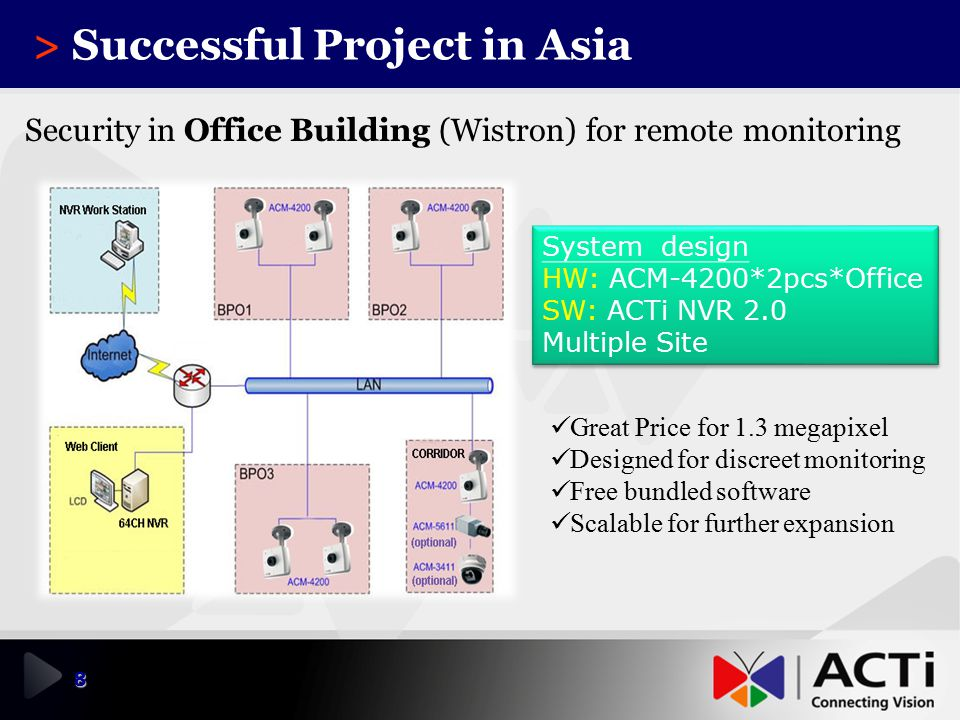 > Successful Project in Asia