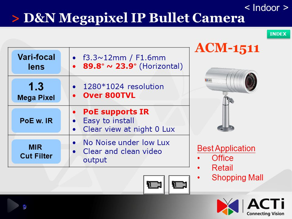 > D&N Megapixel IP Bullet Camera
