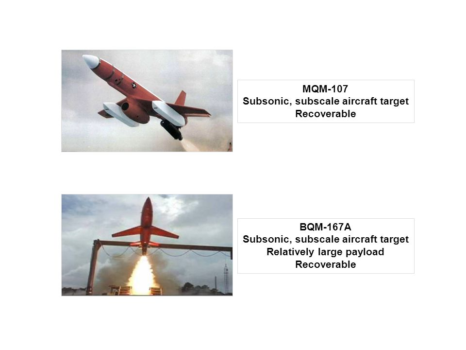 Subsonic, subscale aircraft target Recoverable