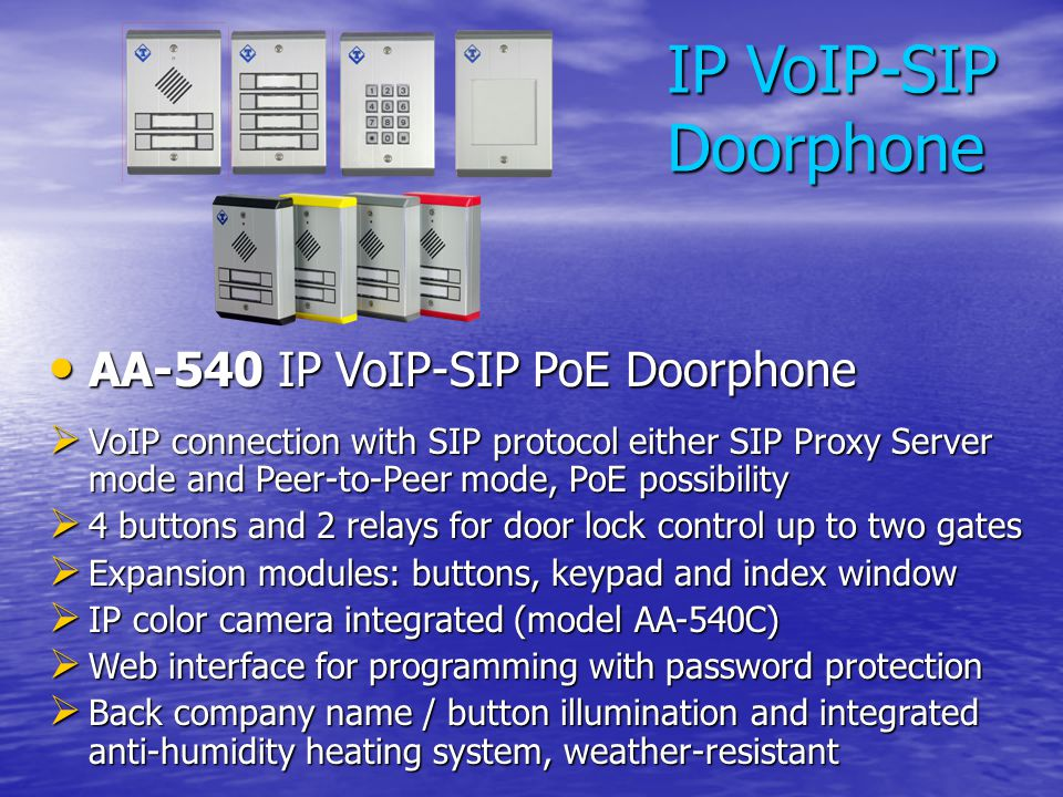 IP VoIP-SIP Doorphone AA-540 IP VoIP-SIP PoE Doorphone