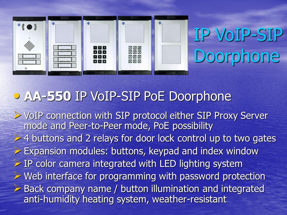 IP VoIP-SIP Doorphone AA-550 IP VoIP-SIP PoE Doorphone