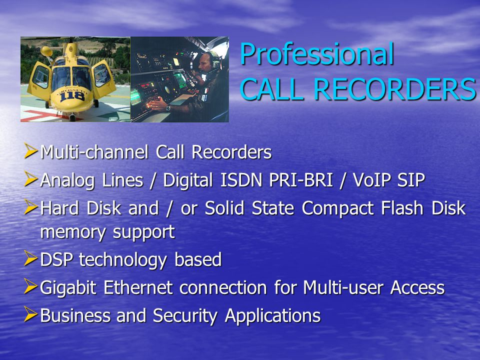 Professional CALL RECORDERS