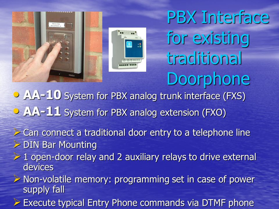 PBX Interface for existing traditional Doorphone