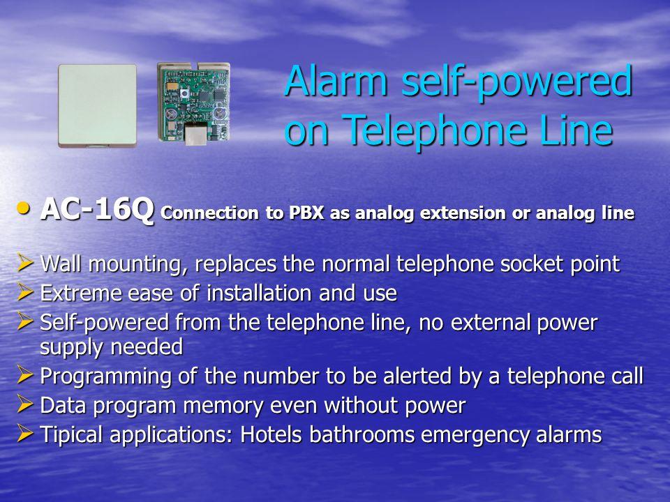Alarm self-powered on Telephone Line