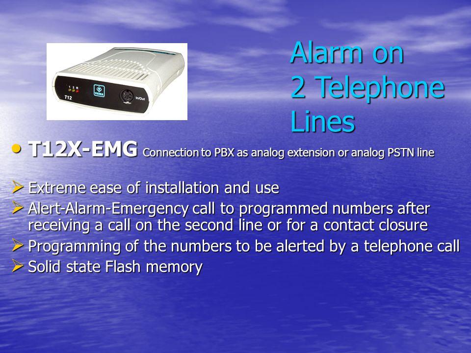 Alarm on 2 Telephone Lines