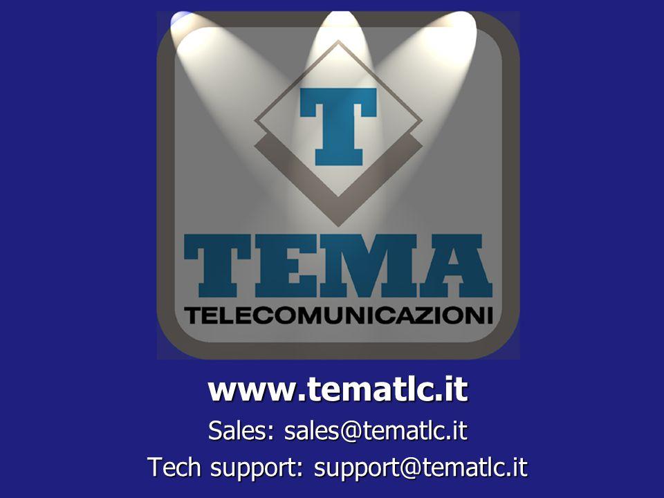www.tematlc.it Sales: sales@tematlc.it