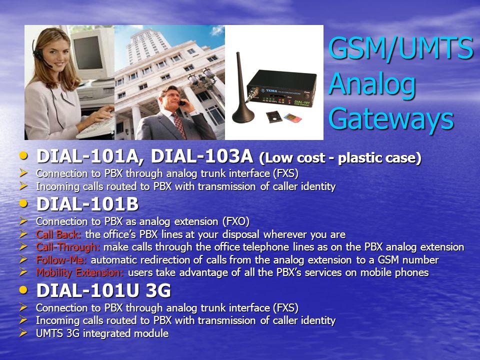 GSM/UMTS Analog Gateways