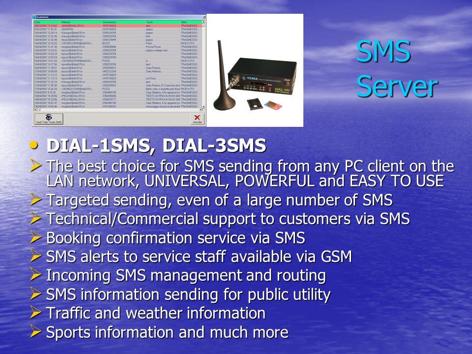 SMS Server DIAL-1SMS, DIAL-3SMS