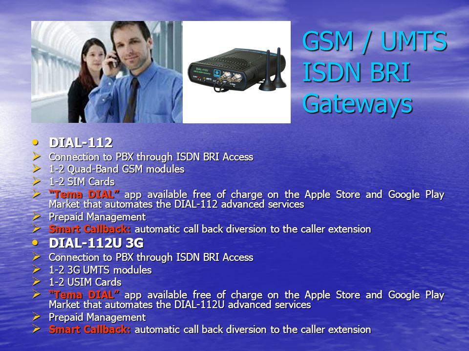GSM / UMTS ISDN BRI Gateways
