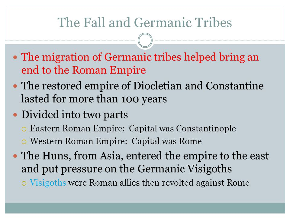 The Fall and Germanic Tribes