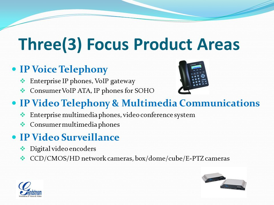 Three(3) Focus Product Areas