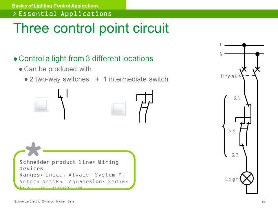 Three control point circuit