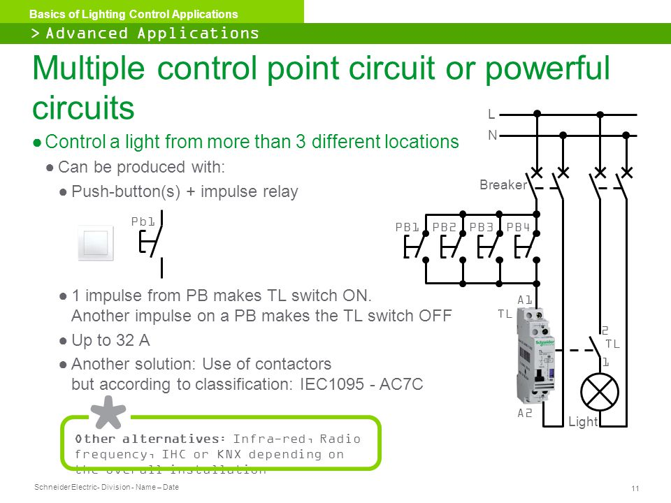 Multiple control point circuit or powerful circuits