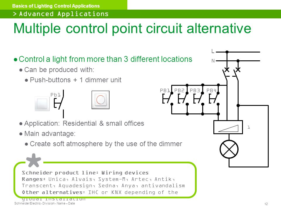 Multiple control point circuit alternative