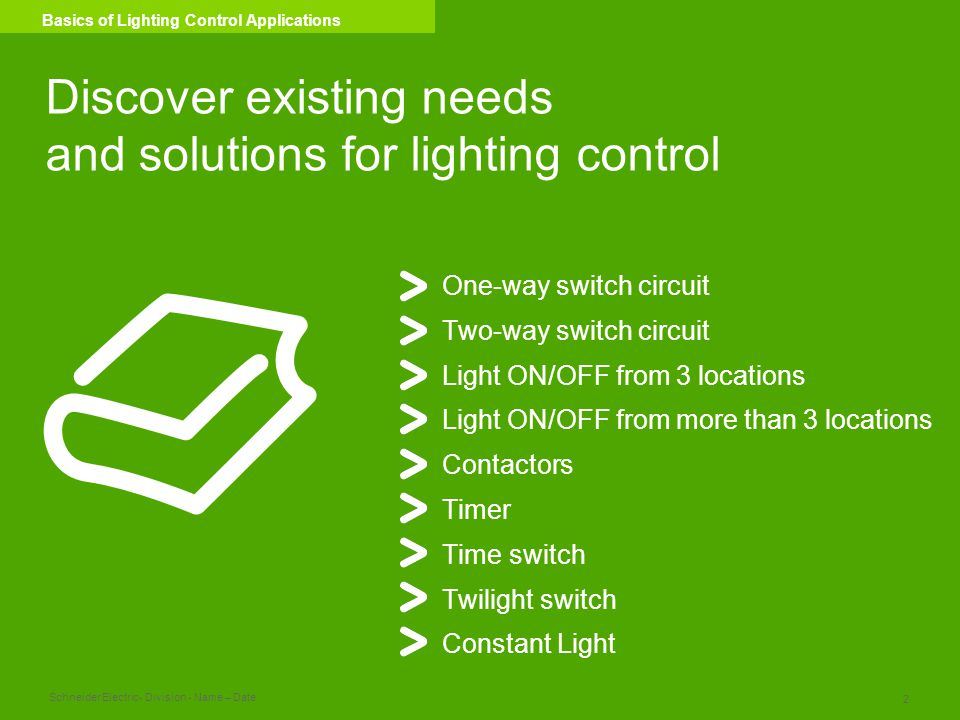 Discover existing needs and solutions for lighting control