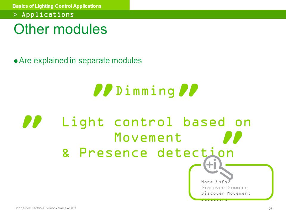 Light control based on Movement & Presence detection