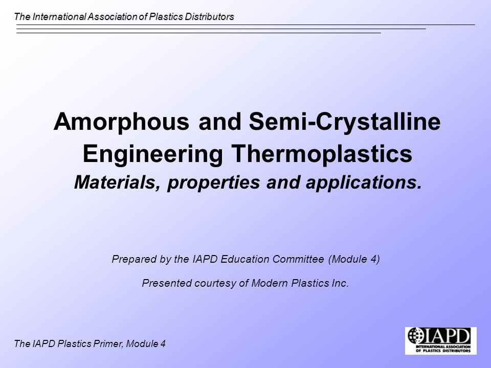Amorphous and Semi-Crystalline Engineering Thermoplastics