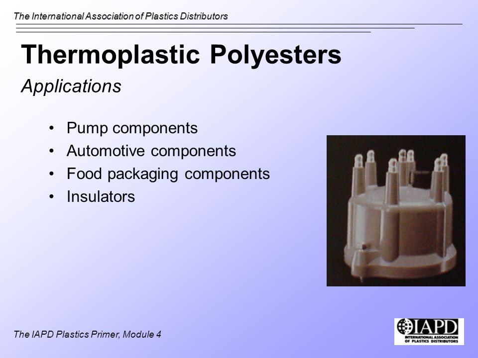Thermoplastic Polyesters Applications