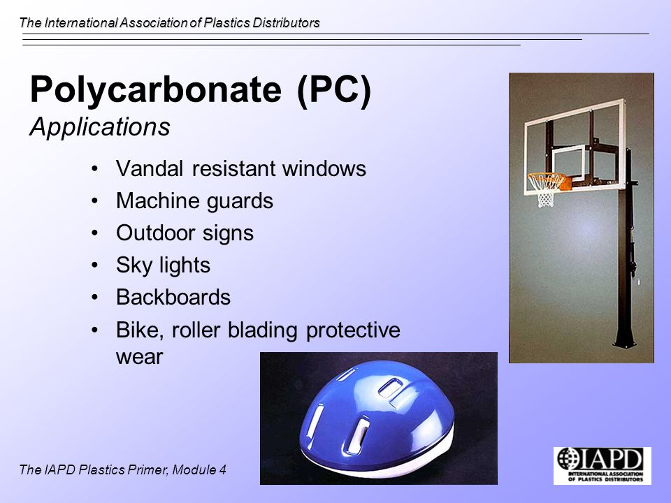 Polycarbonate (PC) Applications