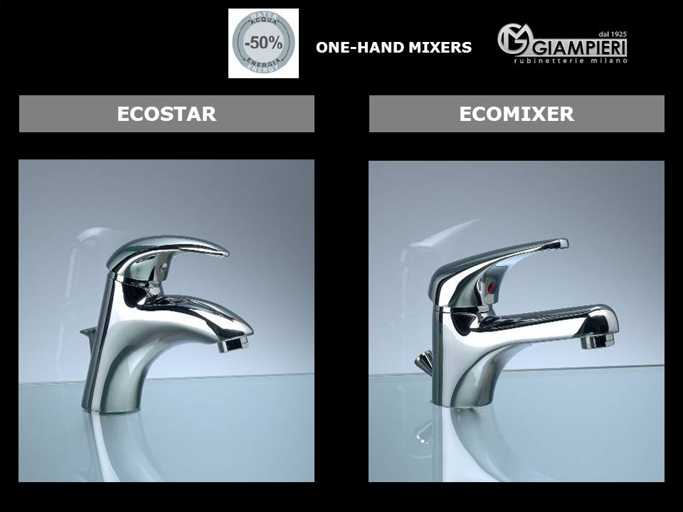 ONE-HAND MIXERS ECOSTAR ECOMIXER