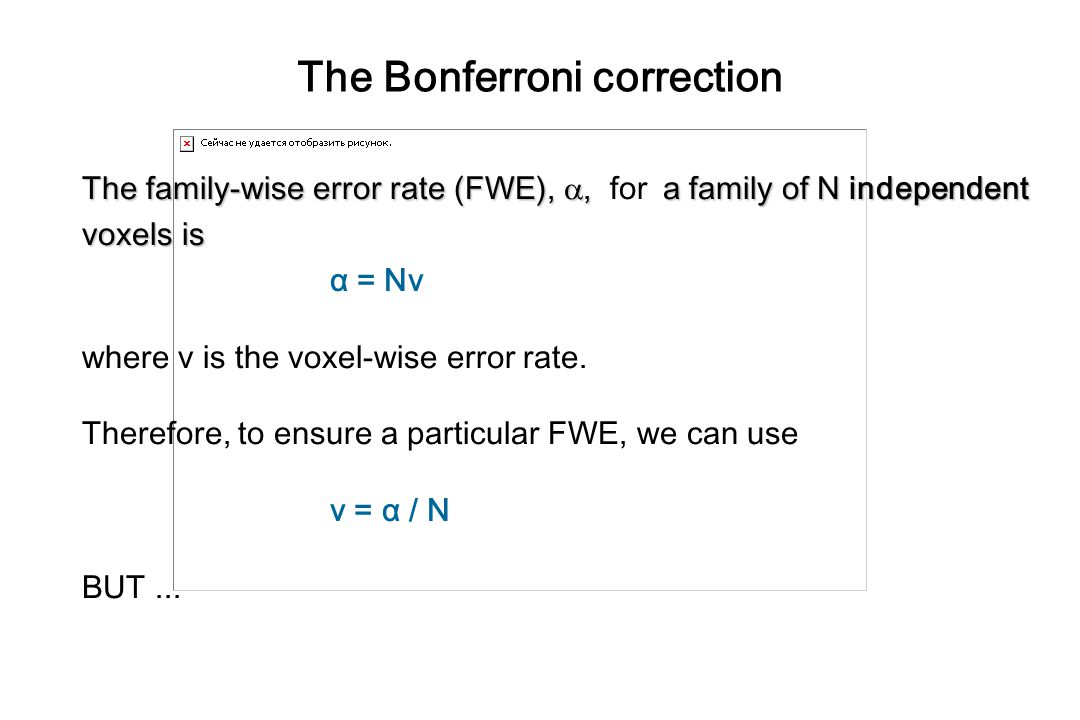 The Bonferroni correction