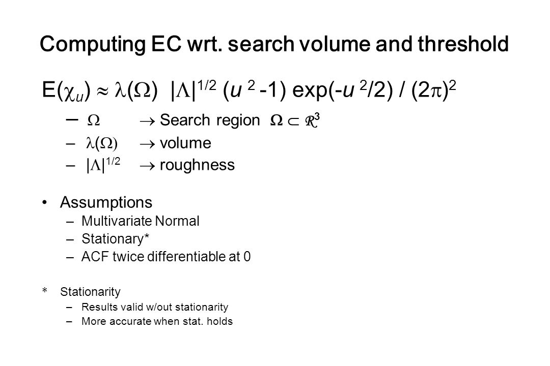 Computing EC wrt. search volume and threshold