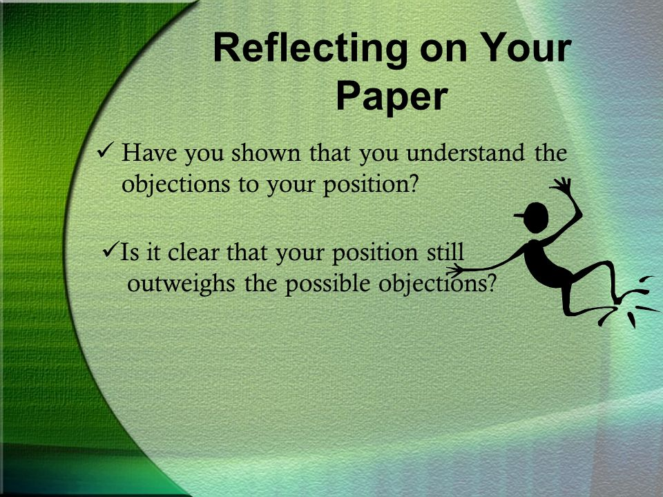 Reflecting on Your Paper