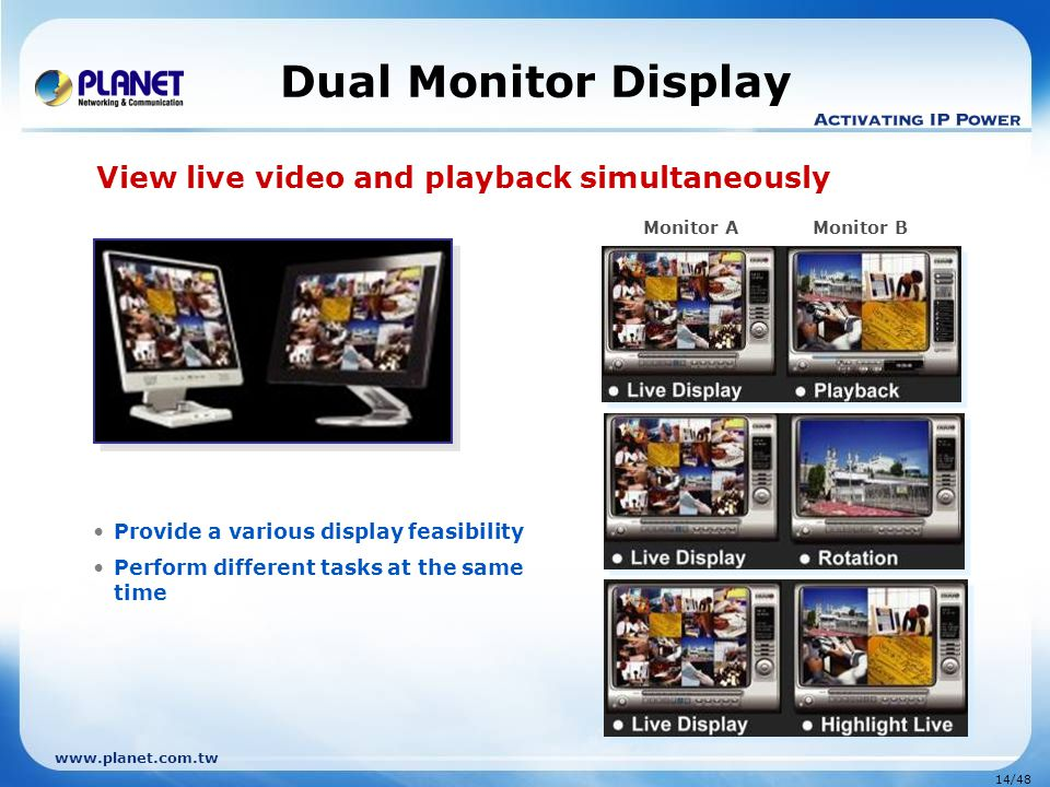 View live video and playback simultaneously