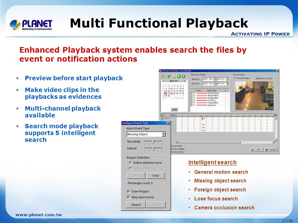 Multi Functional Playback