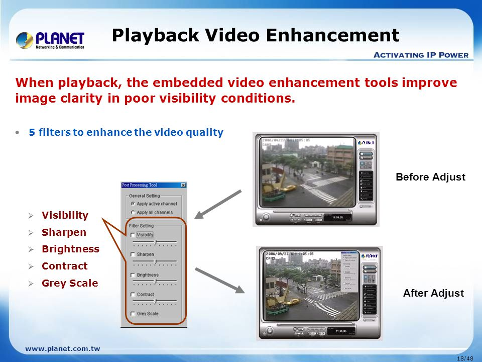 Playback Video Enhancement