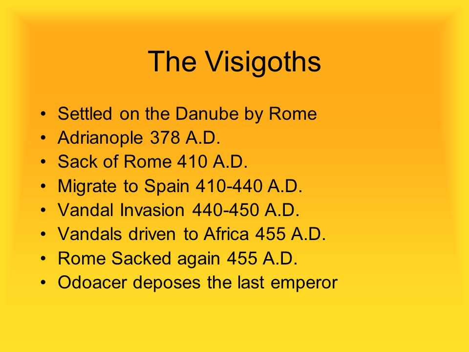 The Visigoths Settled on the Danube by Rome Adrianople 378 A.D.