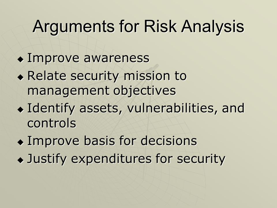 Arguments for Risk Analysis