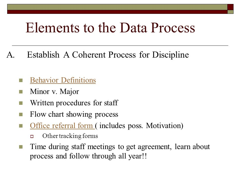 Elements to the Data Process