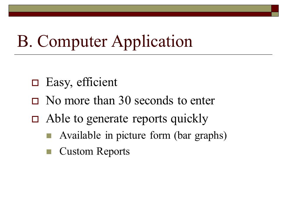 B. Computer Application
