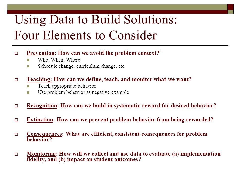 Using Data to Build Solutions: Four Elements to Consider