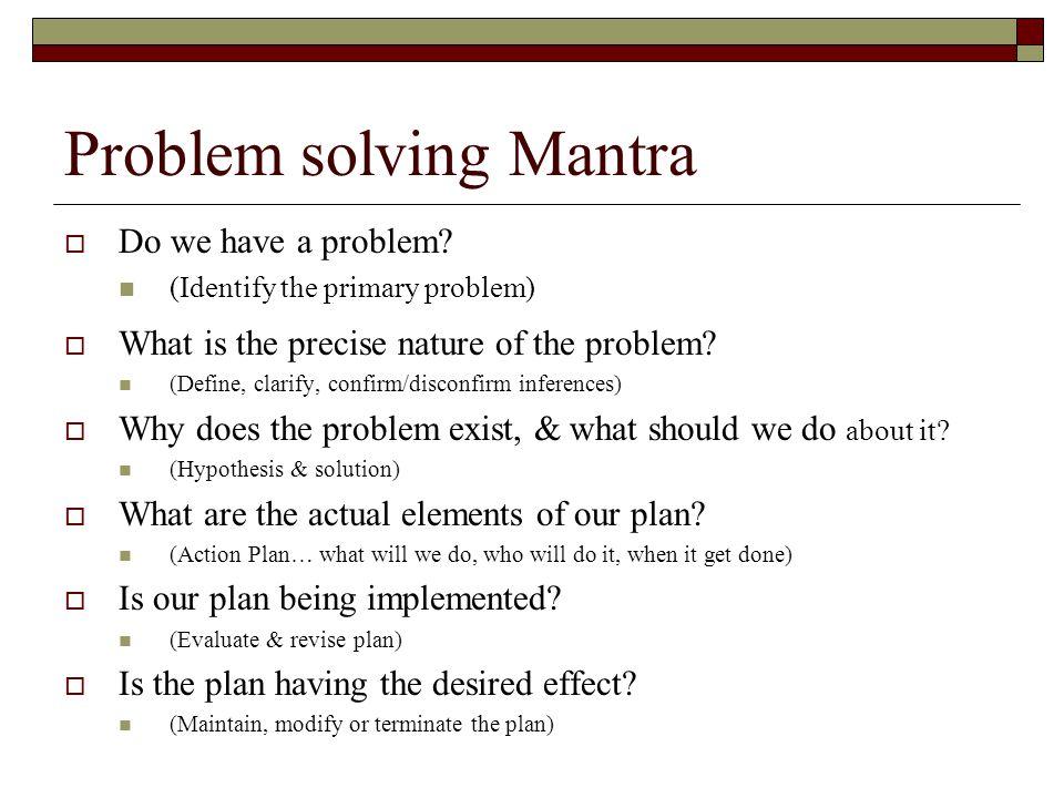 Problem solving Mantra
