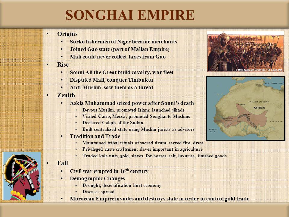 SONGHAI EMPIRE Origins Rise Zenith Fall