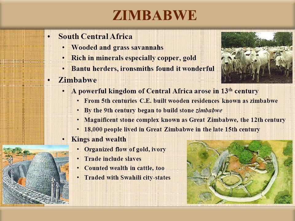 ZIMBABWE South Central Africa Zimbabwe Wooded and grass savannahs