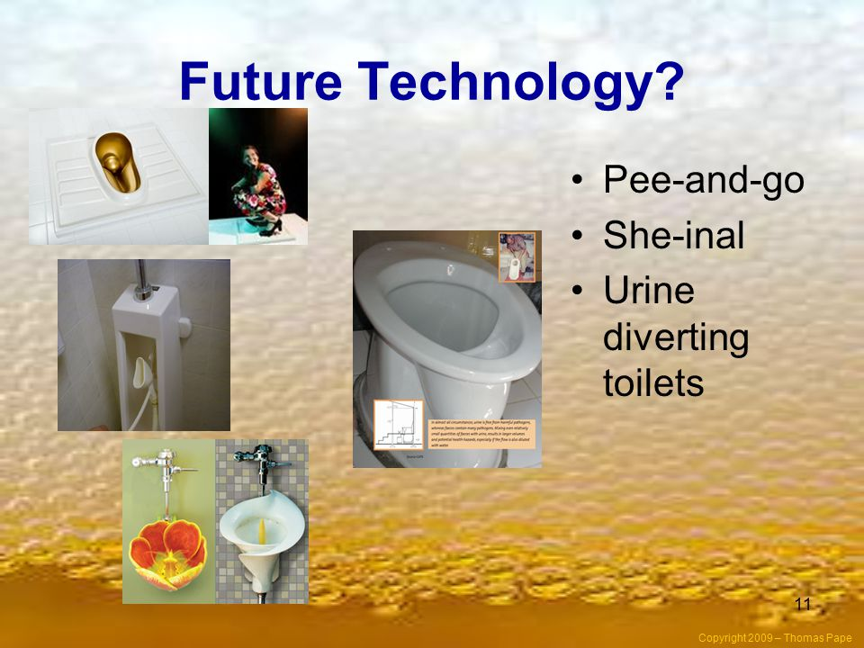 Future Technology Pee-and-go She-inal Urine diverting toilets