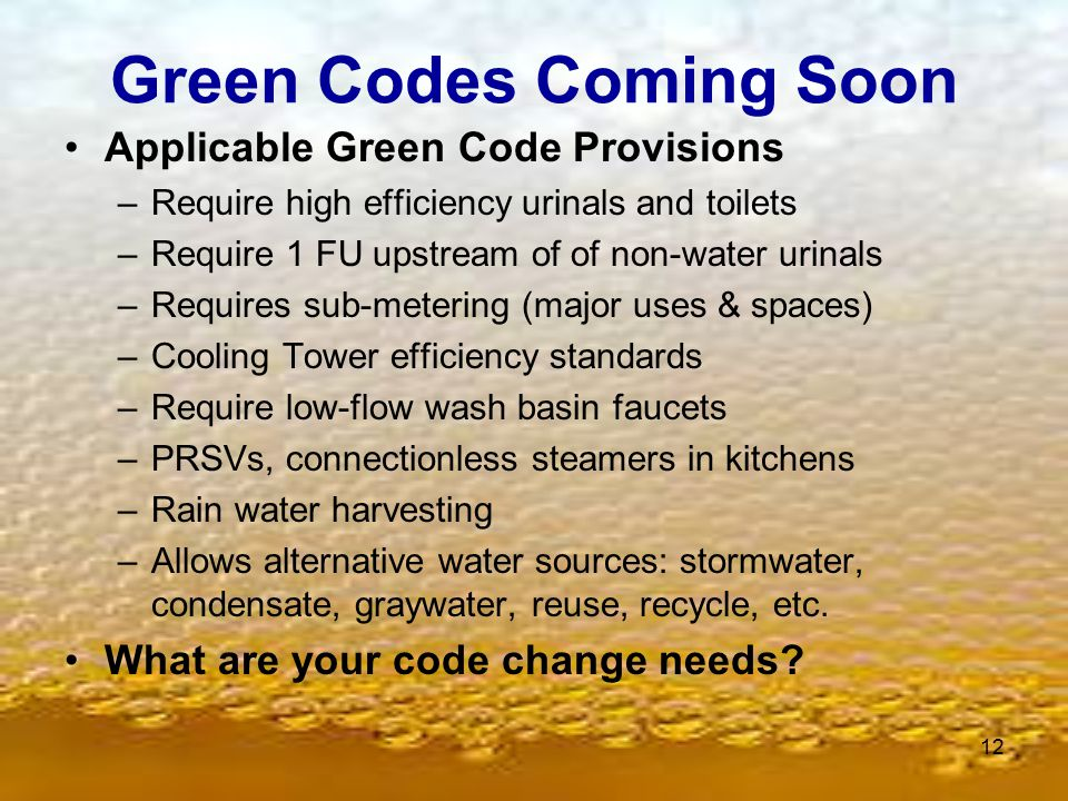 Green Codes Coming Soon