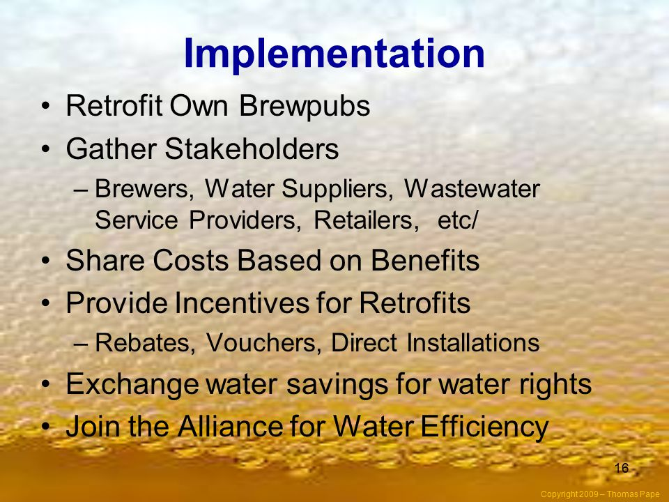 Implementation Retrofit Own Brewpubs Gather Stakeholders